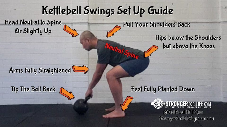 kettlebell swing set up