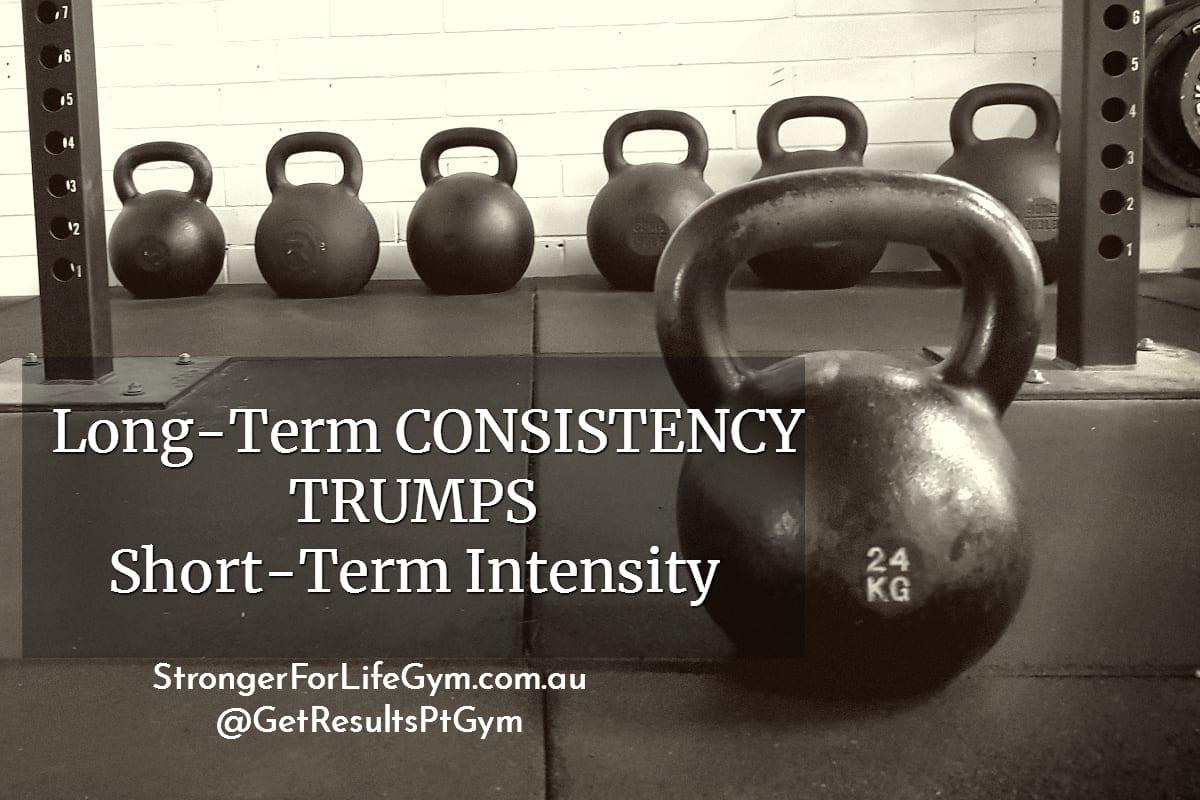 long term consistency trumps short term intensity