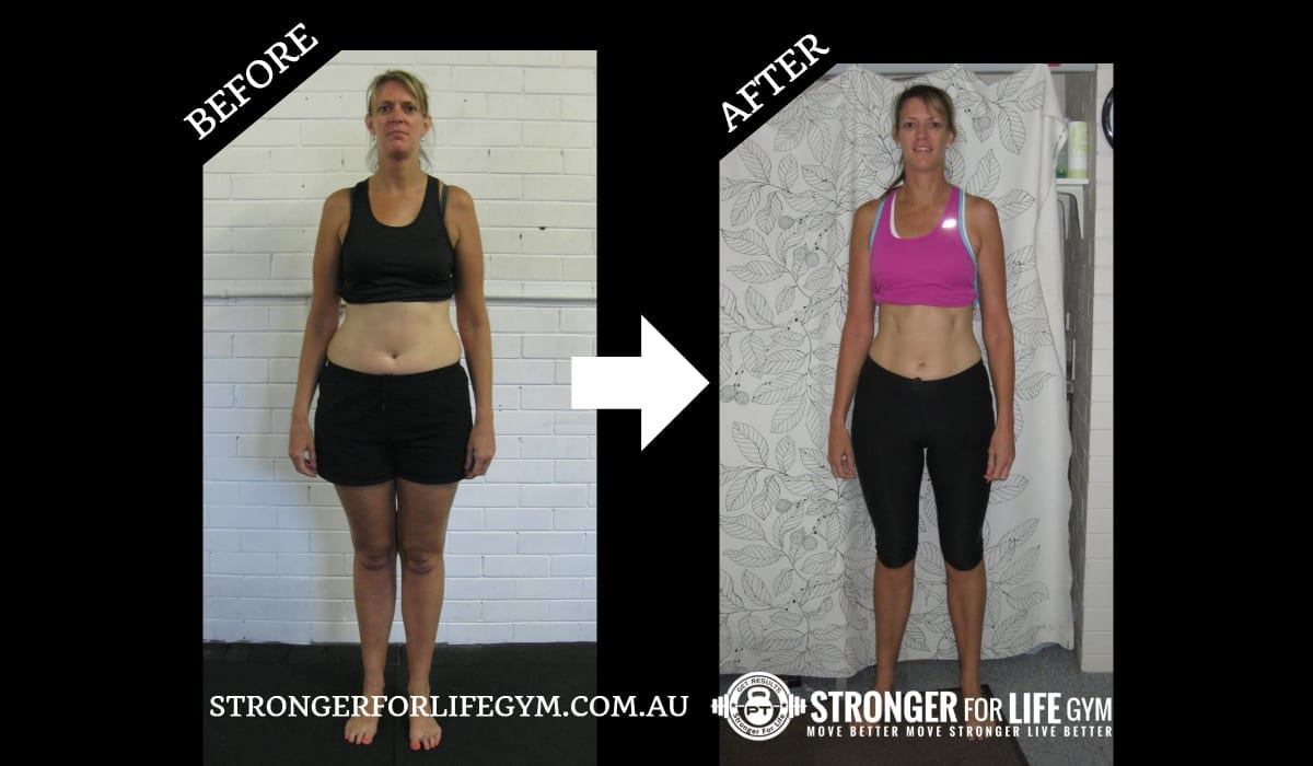 perth personal trainer transformation